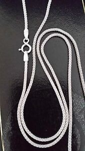 """925 Sterling Silver 18"""" - 20"""" Popcorn Link Chain Necklace 1.5MM Thick UK"""