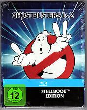 GHOSTBUSTERS 1 & 2 2-DISC BLU-RAY STEELBOOK NEU & OVP SOLD OUT RARE MIT PRÄGUNG