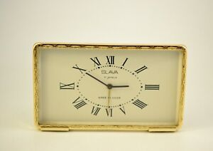 Vintage SLAVA Mechanical, USSR ,Russian Alarm Clock 11J