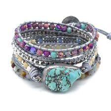 """NWOT $80 ANANTA STONES """"BOHO Chic"""" Turquoise Beaded Wrap Bracelet"""