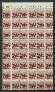 S33610 Italy Dealer Stock MNH 1945 c.10 Democratic Block Di 48v Fold