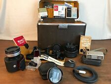 Vintage Camera Accessories Filters Minolta 16 2X Converter Angle Finder & Case