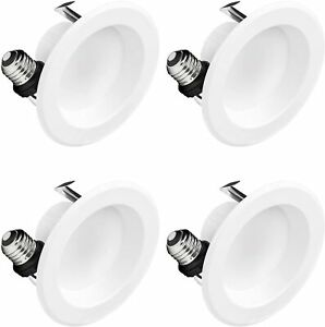 Hyperikon 4 Inch LED Recessed Lighting, 9W=65W, Dimmable, Daylight White, 4 Pack