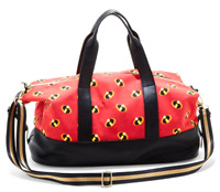 "Her Universe Disney Pixar The Incredibles Logo 18"" Duffel Bag Red Black NEW"