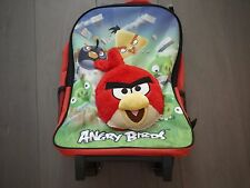 Brand New -  ROVIO ANGRY BIRD 3D PLUSH BACKPACK TRAVEL ROLLING BAG