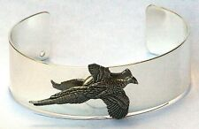 Pheasant Bracelet Bangle Silver Plate and Pewter Shooting Gift Boxed NEW 268