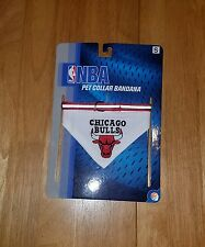"NEW--NBA CHICAGO BULLS PET COLLAR BANDANA--SIZE S(8""-12"")"