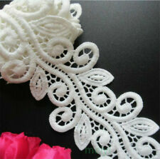 1Yard Flower Embroidered Fabric Lace Trim Ribbon DIY Sewing Supplies Craft US