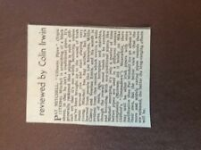 H1j Ephemera 1970s music article pat mitchell uilleann pipes lp review