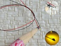 S1157 - 10 Stück SMD LED 0402 gelb mit Kabel Microlitze micro LEDs