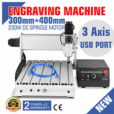 USB CNC ROUTER ENGRAVER ENGRAVING CUTTER 3 AXIS 3040T-DQ WOODWORKING 3D 230W