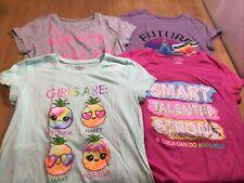 The Children's Place Girls Short Sleeve Shirts, Sz XL 14, Lot Of 4, Smart Girl