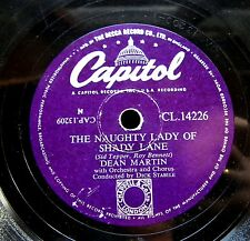 0813/ DEAN MARTIN-Let me go lover-The naughty lady of shady lane-Schellack
