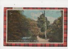 Winding Path & Lower Waterfall Rouken Glen Glasgow Vintage Plain Back Card 237b
