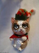 BLOWN GLASS CAT~KITTEN CHRISTMAS ORNAMENT~NWT