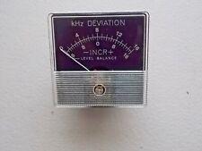 Khz Deviation 20821919092 Incr Level Balance Panel Meter 0 16