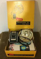 Kodak Duaflex III Camera Vintage in Original Box w/Flash and Bulbs