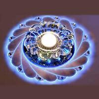3W Glaskristall LED Deckenleuchte Badleuchte Küche Deckenlampe Wohnzimmer 20CM