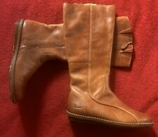 DR Martens 3A71 Boots Tan Women's Size 8 Leather Side Zip