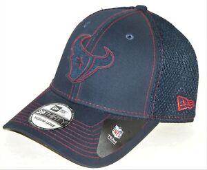 Houston Texans NFL New Era 39Thirty Neo Silico Navy Flex Fit hat cap  M/L