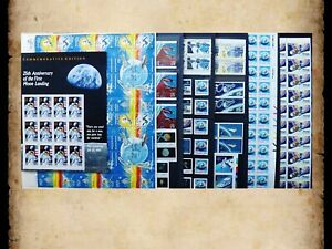 US Postage Stamps Face Value $42+ Unused Lot #60 Sheets Blocks Space