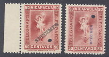 Nicaragua 1900 50c Telgrafos fiscal, SPECIMEN ovpt., from Am. Banknote archives