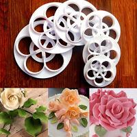 Rose Flower Fondant Mold Cake Sugarcraft Decorating Cookie Gum Paste Cutter Tool
