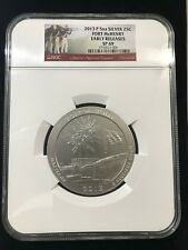 2013 FORT McHENRY ATB 5OZ SILVER QUARTER NGC SP-69 EARLY RELEASES!!