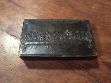 19th Century Pressed Horn Snuff Box, Last Supper