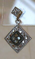 Genuine Champagne Diamond Sterling Silver Drop Dangle Earrings 925 Dainty Lovely