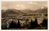 BAD WIESSEE 1941 Dt. Reich Postkarte Panorama Wallberg Bodenschneid Herpich Foto