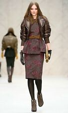 $4,995 Burberry Prorsum 2 4 36 Plongé Leather Down Bomber Jacket Coat Women Lady