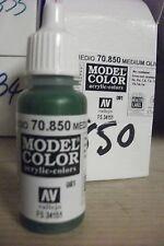 modello acrilico Colori 17ml BOTTIGLIA val850 AV Vallejo - medio oliva