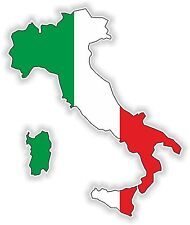 Italy Italien LandKarte Flagge Aufkleber Silhouette Motorrad Fahne Helm Laptop