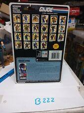 Gi Joe Snake Eyes Full File Card Back 1990