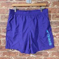 Speedo M Purple Swim Trunks Shorts Athletic Spellout