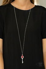 Unlock Every Door Red Necklace By: Paparazzi