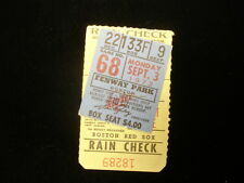 September 3, 1973 Baltimore Orioles @ Boston Red Sox Ticket Stub