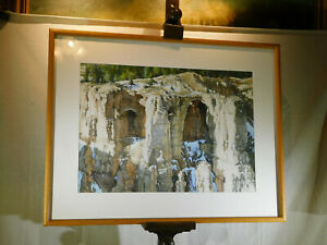 "Peter Holbrook Listed Artist Original Painting ""The Grottos"" Matted & Framed"