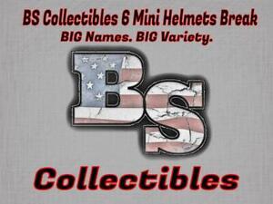 MINNESOTA VIKINGS BS Collectibles SIX BOX Mini Helmet Break