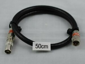 50cm Pal Male to F-Type Male RG6 Quad Shield Coax Cable FETCH TV Antenna Flylead