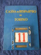 CALENDARIO PERPETUO Targa BANCA Tabella CASSA DI RISPARMIO TORINO Insegna 1954