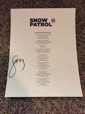 Gary Lightbody Snow Patrol Signed Autograph This Isnt Everything Lyrics Sheet C