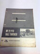 Massey Ferguson Operator's Manual mf22 Pto bale thrower manual