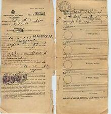REGNO-Coppia 20c Michetti(204)-Reclamo Mod.25  ufficio di Bozzolo 21.10.1928