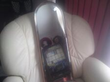 VINTAGE BEVELLED GLASS MIRROR IN WOOD FRAME,USED,79 CMS X 29 CMS APPROX.