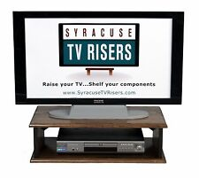 """DARK WALNUT """"DOUBLE TOP"""" TV Riser 26x14x8 outside dimensions by syracusetvrisers"""