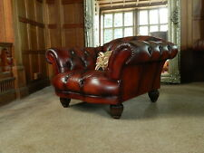 TETRAD OSKAR GRAND TOUR CONKER BROWN LEATHER CHESTERFIELD CLUB CHAIR 2 of a PAIR