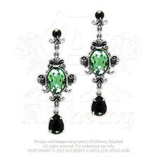 Alchemy - Queen Of The Night - Peltre Y Cristal Colgante Pendientes