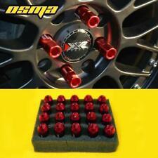 20pc Drag Racing Red Lug Nuts M12x1.5 60mm For Accord Civic S2000 NSX Integra TL